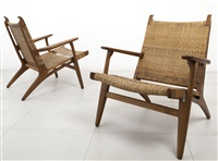 due poltrone by hans j. wegner