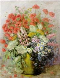 sommerlicher blütenstrauß: mohn, margeriten, kornblumen etc. by hans josef becker-leber