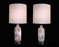two similar lamps by fantoni