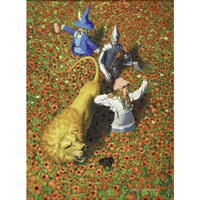 the poppy fields (wizard of oz) by greg hildebrandt