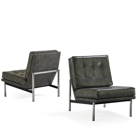 Parallel Bar Lounge Chairs (pair) By Florence Knoll