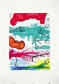 three etchings (#1) / three etchings (#2) / three etchings (#3) (3 works) by carroll dunham
