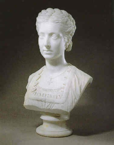 a bust of a lady by alexander macdonald