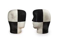 untitled heads (2 works) by jun kaneko
