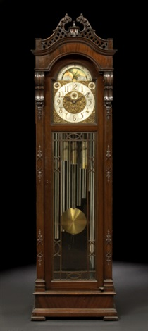 nine tube tallcase clock by thomas chippendale