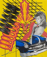 custom print no. 1 (from 11 pop artists, vol. i) (+ pontiac, 1972, color offset lithograph on cardboard, lrgr; 2 works) by peter phillips