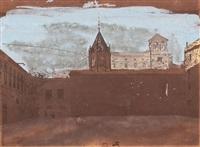 apuntes urbanos, probablemente barcelona (3 works) by mariano josé maría bernardo fortuny y carbó
