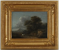 paysage avec chevalier by georges michel