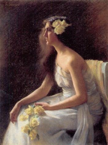 ung pige med gule roser by amélie sauger