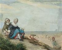 liebespaar auf einer sanddüne by hendrick avercamp