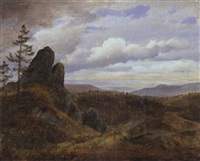 harzlandschaft by georg heinrich crola