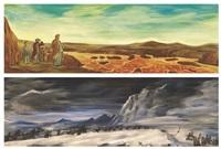 running yellow river (+ swinging snow mountain; 2 works) by liu dahong