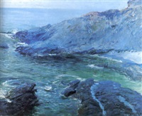 arch beach cove by guy rose