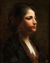 portrait eines mädchens by joseph bail