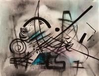 abstrakte komposition by casper walter rauh