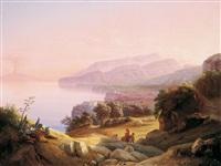 blick auf die küste bei amalfi by johann georg gmelin