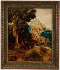 paysage montagneux by herri met de bles