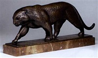 schreitender panther by hermann geibel