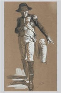 ein uniformierten mit säbel und verdienstkreuz (study) by franz xavier simm