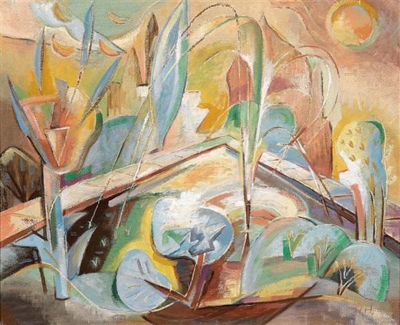 Mediterraner Garten Mit Pool By Hannah Hoch On Artnet