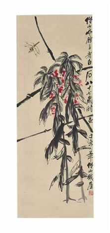 dragonfly and amaranth by qi baishi