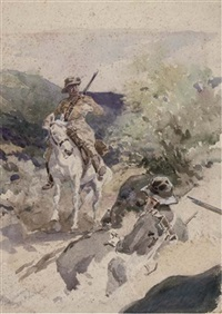an illustration from the boer war by william barnes wollen