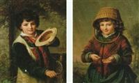 tiggande fosse spelande positiv by johann hermann kretzschmer
