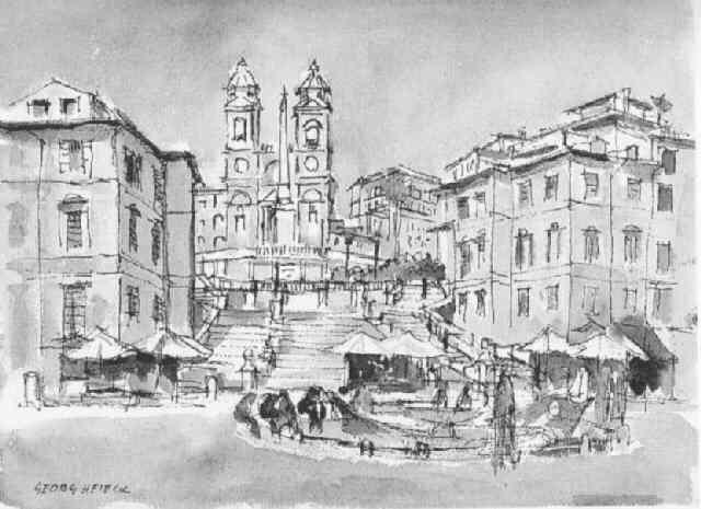 die spanische treppe in rom by georg heieck