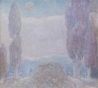 moonlit garden by leo helmholz junker