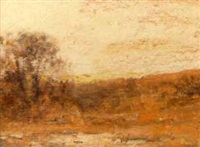 tonalist landscape at sunrise by edward loyal field