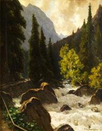 wildbach in den bergen by fritz wilhelm rabending