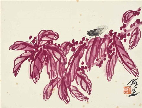 cicada and amaranth by qi baishi