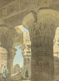 the temple of kom ombo, egypt by richard phene spiers