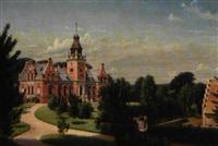 dansk herregård i renæssancestil beliggende i parklandskap by carl christian andersen