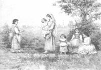 pastoral scene by emile lessore