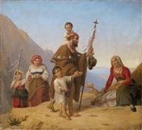 pilgerzug in den sabiner bergen by eduard daege