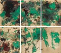 shi 85 painting (6 works) by zhu jinshi