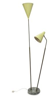 339-2 px lampada da terra con riflettore luminator e elemento mobile regolabile in altezza by giuseppe ostuni and renato forti