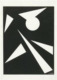 komposition mit einer kreisfläche und dreiecksflächen by anne beothy-steiner