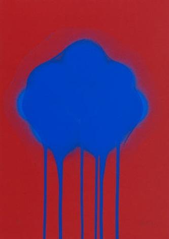 blaue feuerblume by otto piene