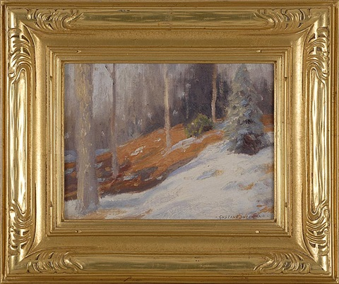 winter sketch new jersey by gustave adolph wiegand