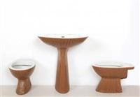 un set di apparecchi sanitari gardena (3 works) by antonia campi