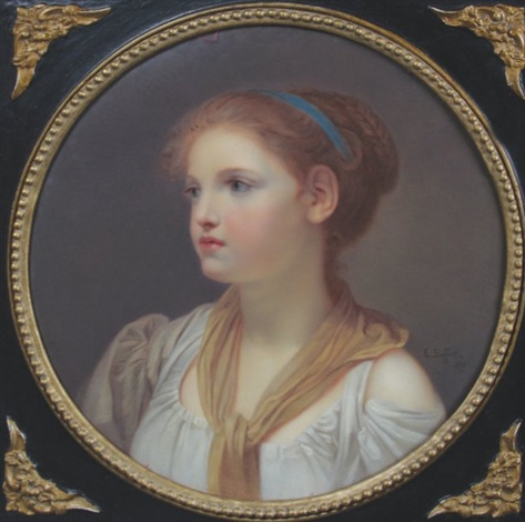 portrait of a young woman by jean baptiste greuze