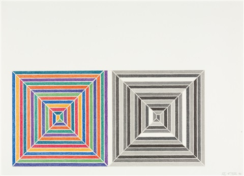 line up by frank stella