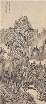 万壑千岩 (landscape after ju ran) by cao kuiyin