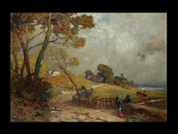 landschaft in der bretagne mit figurenstaffage by jean remond