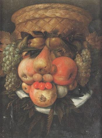 hösten antropomorfiskt huvud i form av fruktstilleben by giuseppe arcimboldo