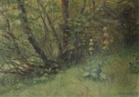 waldwiese mit gelbem enzian by walter wäntig