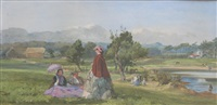 a summer day in a country park by john absolon