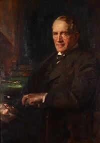 the portrait of george macritchie low by james guthrie